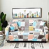Sofaüberwurf,Couch cover perfekt für haustiere und kinder couch gesteppte sofa möbel protektoren schnittsofa werfen pad decken-H 4 Seater(92*118inch)