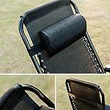 Gartenliege 2er Set klappbare Sonnenliege Strandliege Liegestuhl verstellbar mit Kopfkissen Relax-Liegestuhl Textilene Schwarz Merax®