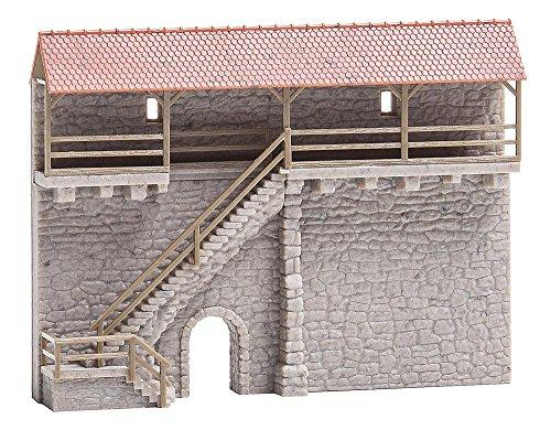 Faller FA 232353 - Altstadtmauer mit Treppe, Zubehör für die Modelleisenbahn, Modellbau