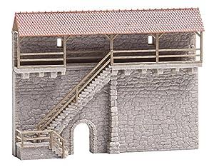 Faller FA 232353-Ciudad Antigua Muro con Escalera, Accesorios para el diseño de ferrocarril, Modelo