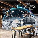 Guyuell Benutzerdefinierte Fotowand Papier 3D Stereo Cartoon Schock Star Wars Wandbild Kinderzimmer Cafe Ktv Hintergrund Tapete Für Wände 3 D Papel Tapiz-300Cmx210Cm