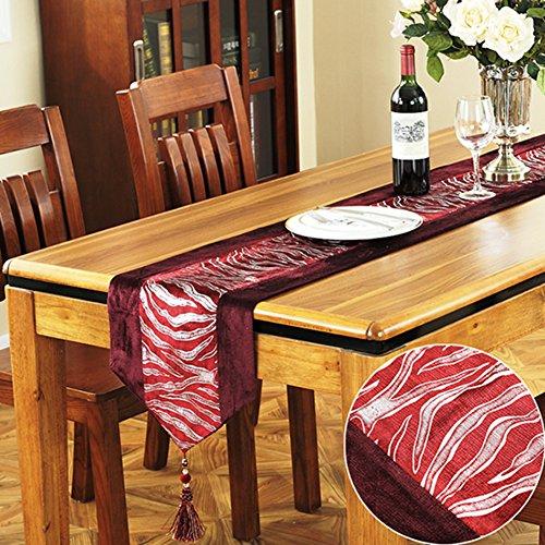 Chemin de table à manger Table de lin Drapeau de table moderne américain de campagne simple-F 32x210cm(13x83inch)