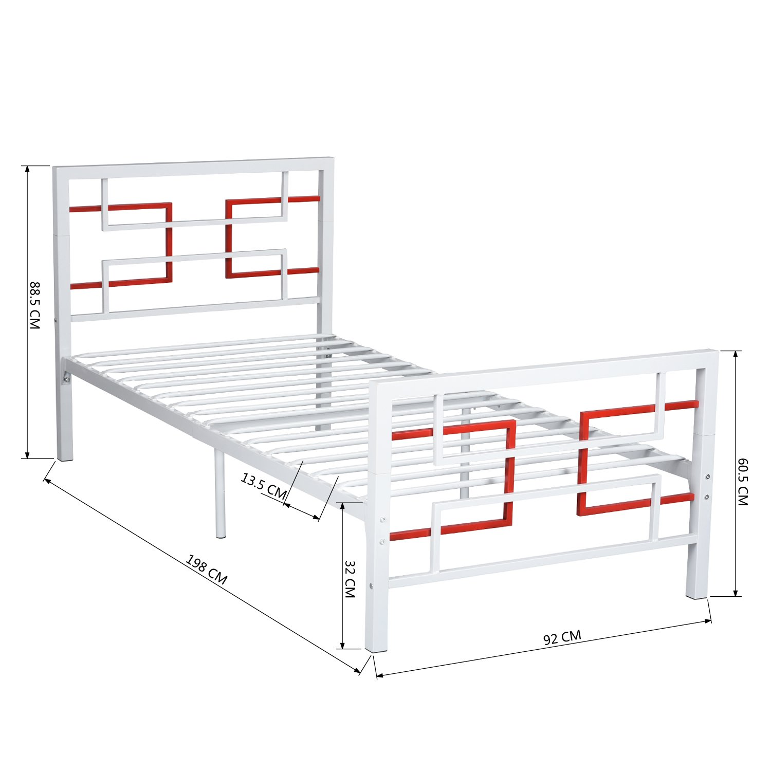 Eggree Single Bed Solid 3ft Metal Bed Frame Double Bed