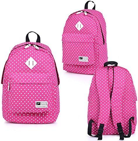 Sac d'école maternelle Sac à dos d'étudiant de mode de de de toile d'école sac à dos de modèle de point d'onde (Rosy) B07K12ZCYS | Moderne  36e823