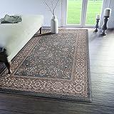 Traditioneller Klassischer Teppich für Ihre Wohnzimmer - Türkis Creme Beige - Perser Orientalisches Antik Ziegler Ornamente Top Qualität Pflegeleicht