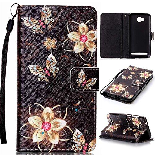 Nancen Compatible with Handyhülle Huawei Y3 II / Y3 2 (4,5 Zoll) Hülle, Bunt PU Leder Brieftasche Schutzhülle Bookstyle Flip Case Wallet Cover mit Standfunktion
