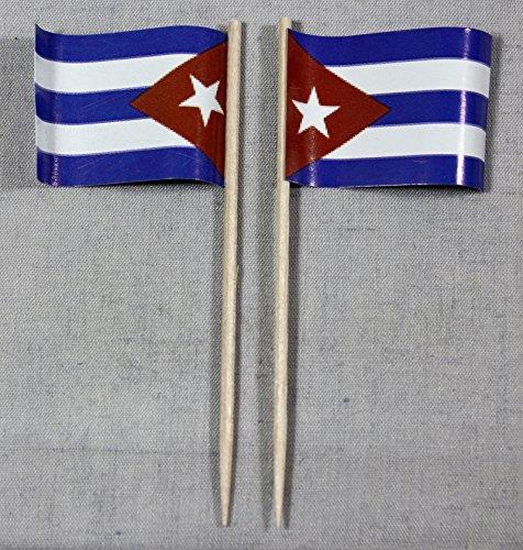 Party-Picker Flagge Kuba Cuba Papierfähnchen in Profiqualität 50 Stück Beutel Offsetdruck Riesenauswahl aus eigener Herstellung