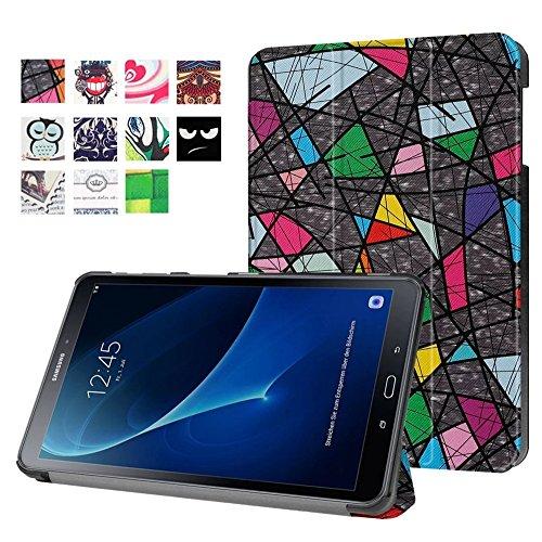 DETUOSI Hülle für Samsung Galaxy Tab A6 10.1 - Ultra Dünn Smart Cover Leder Case Schutz Hülle Tasche + Back Case für Samsung Galaxy Tab A (2016) SM-T580N/T585N 25,54 cm (10,1 Zoll) Schutzhülle Leder A6-tablett