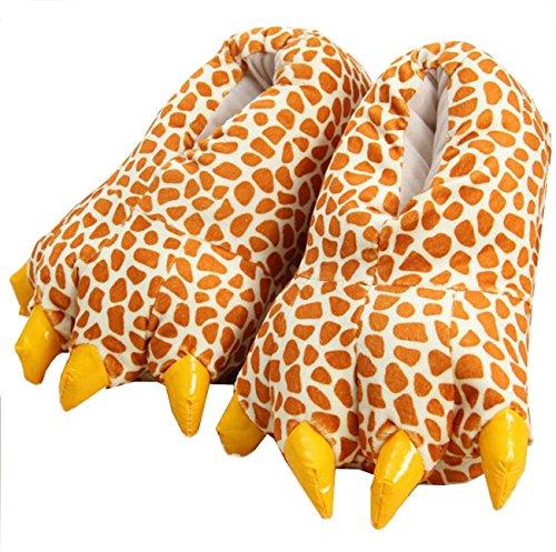 LANFIRE Unisex Soft Plüsch Haus Hausschuhe Tier Kostüm Pfote Claw Schuhe (M (EUR 35-39), Hirsch(Deer))