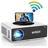 """Proiettore WiFi,WiMiUS 7200 Lumen Videoproiettore Full HD Nativa 1920x1080P LED Proiettore Supporto 4K Schermo 300"""" per Home"""