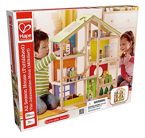 Hape E3401 - Vierjahreszeitenhaus, möbiliert - 5