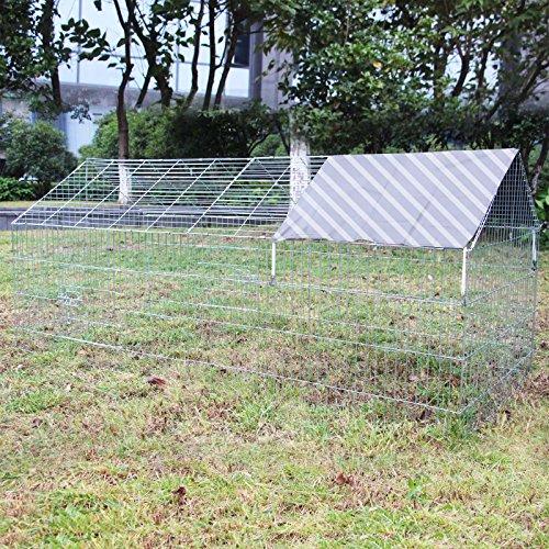 Recinto conigli Gabbia lepri Conigliera Spazio per muoversi Stalla Tetto di legno