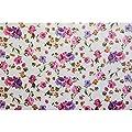 Wachstuch Wachstischdecke Tischdecke abwaschbar Blumen Hellbeige Rund 100cm von ANRO - Gartenmöbel von Du und Dein Garten