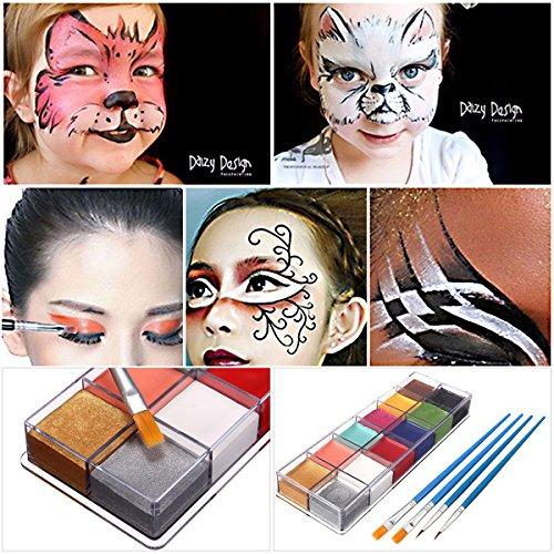 Pinturas Corporales y Cara, LuckyFine Body Paint, Maquillaje Halloween