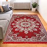 Genius Homes Traditional Chenille Carpet (Red1)