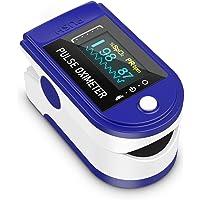 Pulsossimetro, Ossigeno Monitor Dito Cardiofrequenzimetro Ossigeno Saturazione Monitor Adulto e Bambino con display OLED…