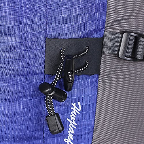 RiseSun 50L (45 + 5) Wandern Rucksack Reisen Daypack Bergsteigen Wasserdichte Outdoor-Sport Camping Angeln Klettern Radfahren Skifahren (rot) blau