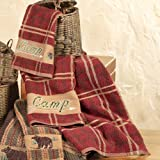 Camp-Plaid-Cabin-Towel-Set-3-pcs-Lodge-Bath-Accessories