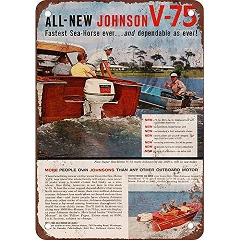 1960Johnson Sea-Horse V-75motori fuoribordo Look Vintage Riproduzione