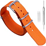 18mm 20mm 22mm 24mm Nero Verde Blu Rosso Arancione Beige Cinturino per orologio in nylon di durevole militare Cinturino per c