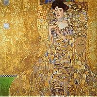 """Gobelin Stickbild Stickpackung """"Adele von Klimt"""" halber Kreuzstich 55x55cm. inkl. Sticktwist cod.650"""