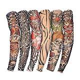 RAPID Unisex Tattoo Sleeves Arm Warmers (Multicolor ) - Set of 6