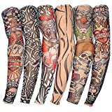 Rapid® Driving UV Sun Protection Tattoo Arm Sleeves For Dust And Pollution Protection Pack Of 6