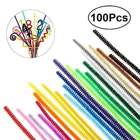 TOYMYTOY-Limpiadores-de-Pipa-Tallos-de-Chenilla-Juguetes-para-Artes-Manualidades-Artesanas-Colores-Surtidos-30cm-x-6mm-100-Piezas