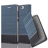 Cadorabo Coque pour HTC One A9 en Bleu FONCÉ Noir - Housse Protection avec Fermoire...