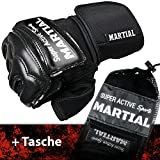 MMA Handschuhe Profi – professionelle Qualität – hochwertige Konstruktion – Boxen, Training, Sandsack, Boxsack, Freefight, Grapling, Kampfsport – Schwarz – Boxhandschuhe - 2