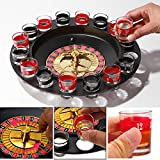 Packnbuy Roulette Casino Game Set With 16 Drinking Shot Glasses