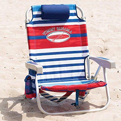 Tommy Bahama Rucksack Klappsessel Strand, in rot & blau Streifen Outdoor und Garten (Tommy Bahamas-strand-handtücher)
