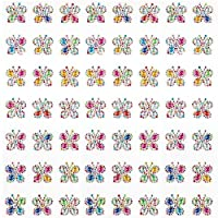 Rainbow Butterfly Self-Adhesive Acrylic Gems for Children to Decorate and Personalise Cards & Crafts - Gem Stickers for Kids (Pack of 20)