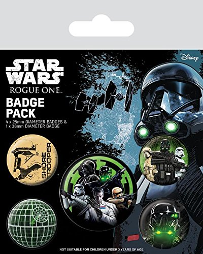 Pyramid International Star Wars Rogue One Empire Badge, Mehrfarbig, 10x 12,5x 1,3cm One-button-record