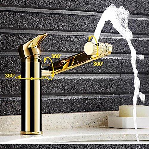 Kupfer-badewanne-eitelkeit (Blonde heiße und kalte Wasserhahn Kupfer Eitelkeit Becken Wasserhahn Wasserhahn schwenkbar)