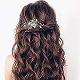 Mayelia - Pettine per capelli da sposa con perle e cristalli, accessorio per capelli da sposa per donne e ragazze