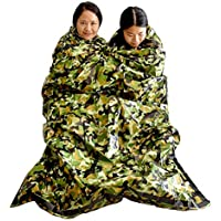 Top Lander Emergency Survival Sleeping Bag Lightweight Thermal Insulation Compact Outdoor Fisrt Aid Gear Waterproof Bivy Sack for Camping Hiking Backpacking