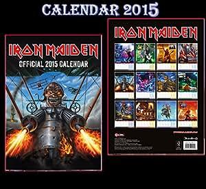 Iron Maiden Official Calendrier 2015 + Iron Maiden aimant de réfrigérateur
