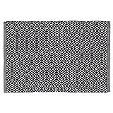 Sealskin 294213619 Badteppich Trellis, Farbe: Schwarz, 90 x 60 cm