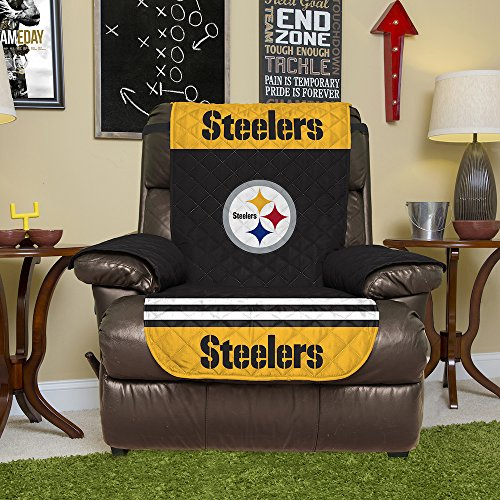 NFL Pittsburgh Steelers Wendemöbelschutz mit elastischen Riemen, 203 x 165 cm