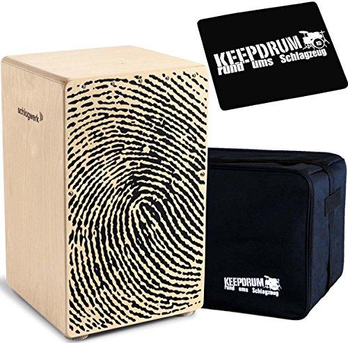 Schlagwerk Cajon + KEEPDRUM Gig Bag + CP-01 Pad (CP107 + Bag + Pad)