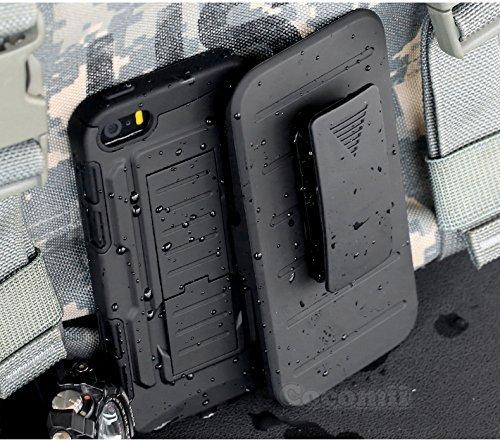 Iphone se / 5s / 5 custodia, cocomii robot armor new [heavy duty] premium belt clip holster kickstand shockproof hard bumper shell [military defender] full body dual layer rugged cover case paraurti apple (black)
