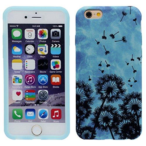 iPhone 6S Plus Coque Mince et léger, Tissu & Plastique Hybride Doux Gel Motif Style Beau Housse de Protection Case pour Apple iPhone 6 Plus / 6S Plus 5.5 inch bleu-1