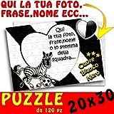 Puzzle Juventus Squadra del cuore A4 30x20 personalizzato con foto,nome,lstemma ecc