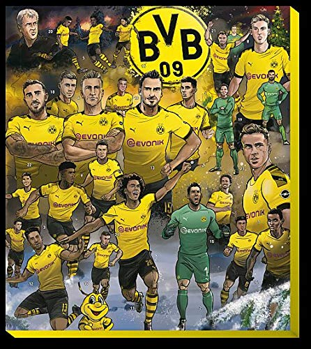 BVB 09 - Adventskalender Comic XXL 2019 - Borussia Dortmund - Schoko - Kalender - Liga - Fußball - Fanartikel - (EUR 9,49/100 g) -