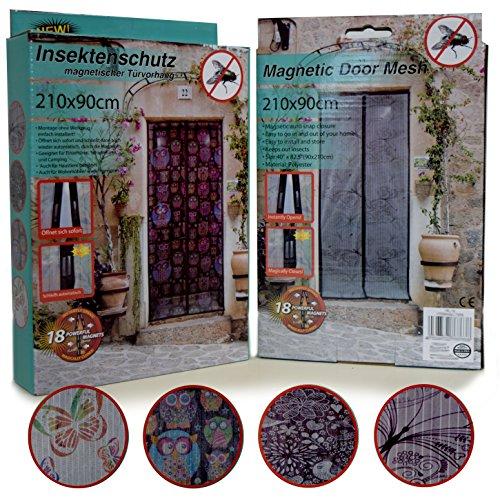 (638) insetti protezione magnetica porta tenda (fiori) volare griglia rete volare protettiva