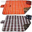 Picnic Camping BBQ Tent Travel Fleece Waterproof Rug Blanket Mat Car Seat Cover