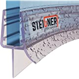 STEIGNER douchestrip, 70cm, glasdikte 6/7/ 8 mm, voorgebogen, pvc, vervangende afdichting voor ronde douches, UK03