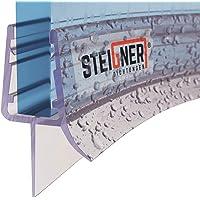 STEIGNER Joint de douche pour paroi en verre, 30cm, vitre 3,5/4/5mm, joint d'étanchéité PVC courbé pour les cabines de…
