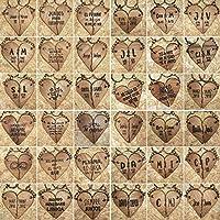 LLAVEROS PERSONALIZADOS para PAREJAS con forma de CORAZÓN en dos mitades de madera recuperada